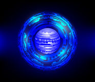Голубая абстрактная технология Стоковые Фото