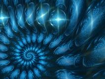 Голубая абстрактная улитка Стоковые Фото