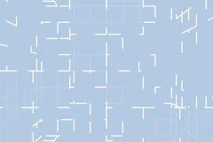 Голубая абстрактная футуристическая хаотическая предпосылка 3D технологии иллюстрация вектора