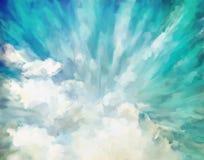 Голубая абстрактная художническая предпосылка Стоковые Изображения