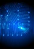 Голубая абстрактная электронная предпосылка Стоковая Фотография