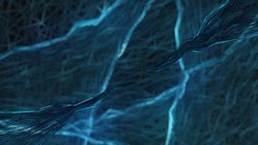 Голубая абстракция на черной предпосылке Стоковые Фотографии RF