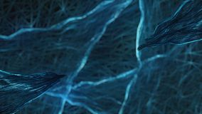 Голубая абстракция на черной предпосылке Стоковая Фотография