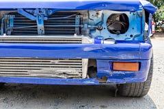 голубая автокатастрофа Стоковые Фотографии RF