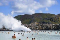Голубая лагуна в Исландии стоковая фотография rf
