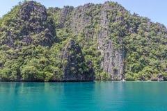 Голубая лагуна в Филиппинах Стоковое Изображение RF