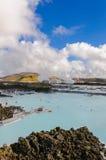 Голубая лагуна - известный исландский центр курорта, Исландия Стоковое Изображение RF