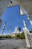 Голубая архитектура мечети Стоковые Изображения