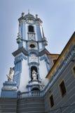 Голубая башня аббатства Durnstein Стоковые Фотографии RF