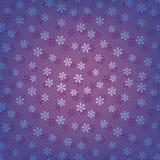 Голубая безшовная картина снежинок иллюстрация вектора