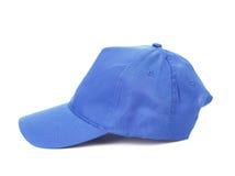 Голубая бейсбольная кепка Стоковые Фотографии RF