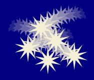 Голубая белая абстрактная предпосылка Стоковое Изображение RF