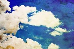голубая белизна неба облака Стоковые Изображения