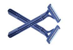 голубая бритва Стоковые Фото