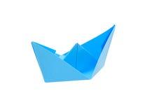 голубая бумага шлюпки Стоковое Изображение