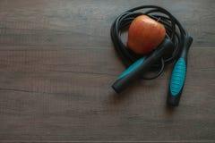 Голубая веревочка скачки Стоковое Фото