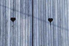 голубая дверь деревянная Стоковое Изображение RF