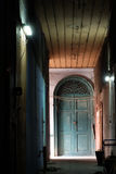 голубая дверь старая Стоковая Фотография RF