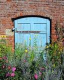 голубая дверь Стоковая Фотография RF