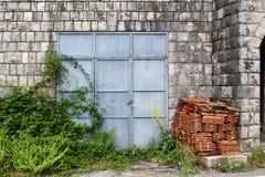 голубая дверь Стоковое Фото