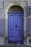 Голубая винтажная дверь Стоковое Изображение RF