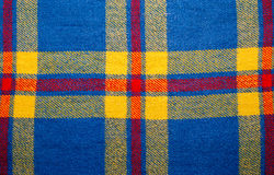 Голубая винтажная шотландка тартана одеяла с космосом экземпляра, предпосылкой текстуры Стоковые Изображения RF