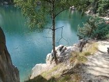 голубая вода озера Стоковые Изображения RF