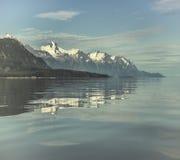 голубая вода отражений стоковая фотография rf