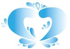 голубая вода сердца Стоковые Изображения