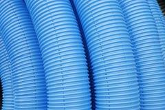 Голубая волнистая труба Стоковые Изображения