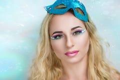 Голубая волшебная маска Стоковая Фотография