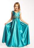 голубая девушка платья Стоковые Изображения