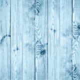 Голубая деревянная предпосылка зимы Новый Год Рождество текстура Стоковое Фото