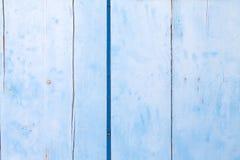 Голубая деревянная предпосылка Стоковое Фото