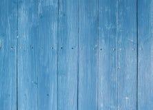 Голубая деревянная предпосылка Стоковые Изображения