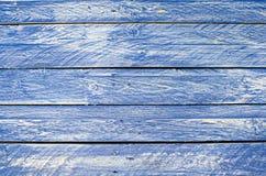 Голубая деревянная предпосылка Стоковые Фотографии RF