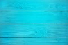 Голубая деревянная предпосылка Стоковое Изображение