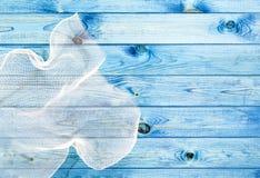 Голубая деревянная текстура доски Стоковая Фотография