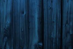 Голубая деревянная текстура Стоковая Фотография