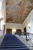 Голубая лестница в замке Schönbrunn Стоковое Фото