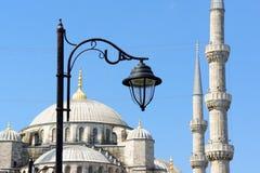 Голубая деталь мечети в Стамбуле, Турции Стоковые Изображения