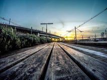 Голубая железнодорожная станция Амстердам Sloterdijk часа Стоковые Фотографии RF