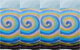 Голубая желтая каменная мозаика Стоковые Фотографии RF