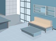 голубая живущая комната иллюстрация вектора