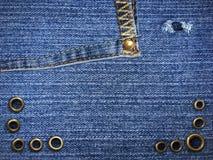 Голубая джинсовая ткань демикотона Стоковое Изображение RF