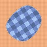 Голубая заплата Стоковое Фото
