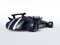 Голубая задняя часть автомобиля Иллюстрация штока