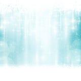Голубая зима, предпосылка рождества с световыми эффектами Стоковые Изображения RF