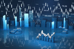 Диаграмма финансов дела, диаграмма, адвокатское сословие, график Стоковая Фотография RF