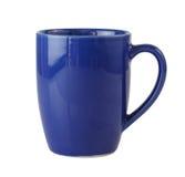 голубая изолированная белизна кружки Стоковое Фото